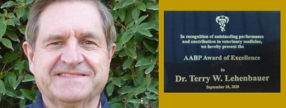 Dr. Terry Lehenbauer receives AABP 2020 Award of Excellence
